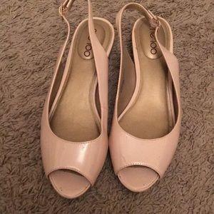 Pink Patent Wedge Heel